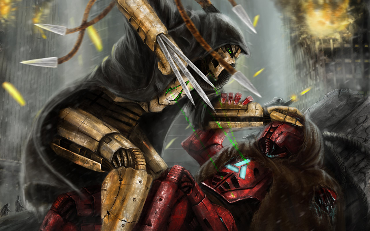 Picture Mortal Kombat Heroes of the Storm Warriors Cyrax vs Sektor 1280x800