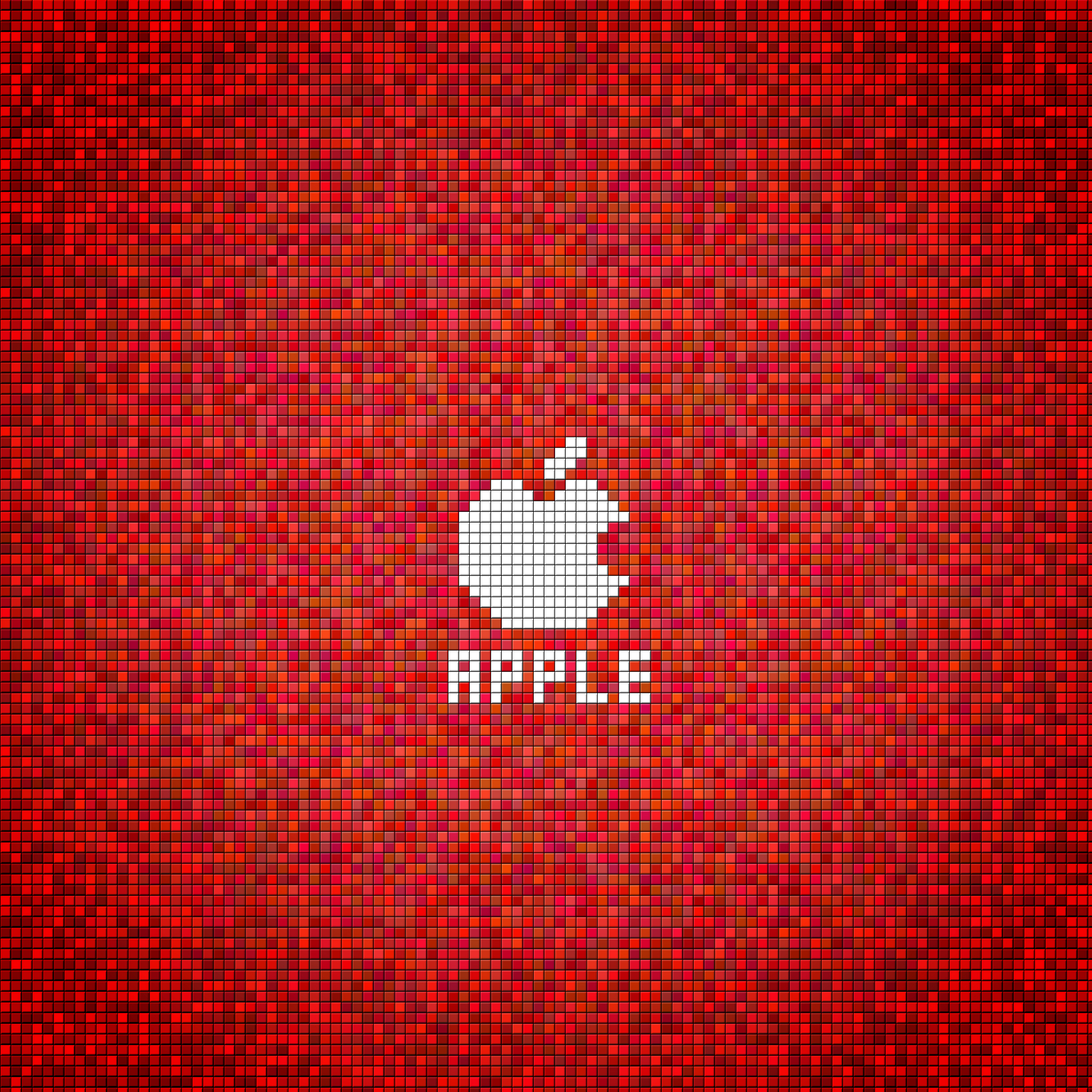 ipad air wallpaper Christmas Apple Red Square 3Wallpapers iPad 2048x2048