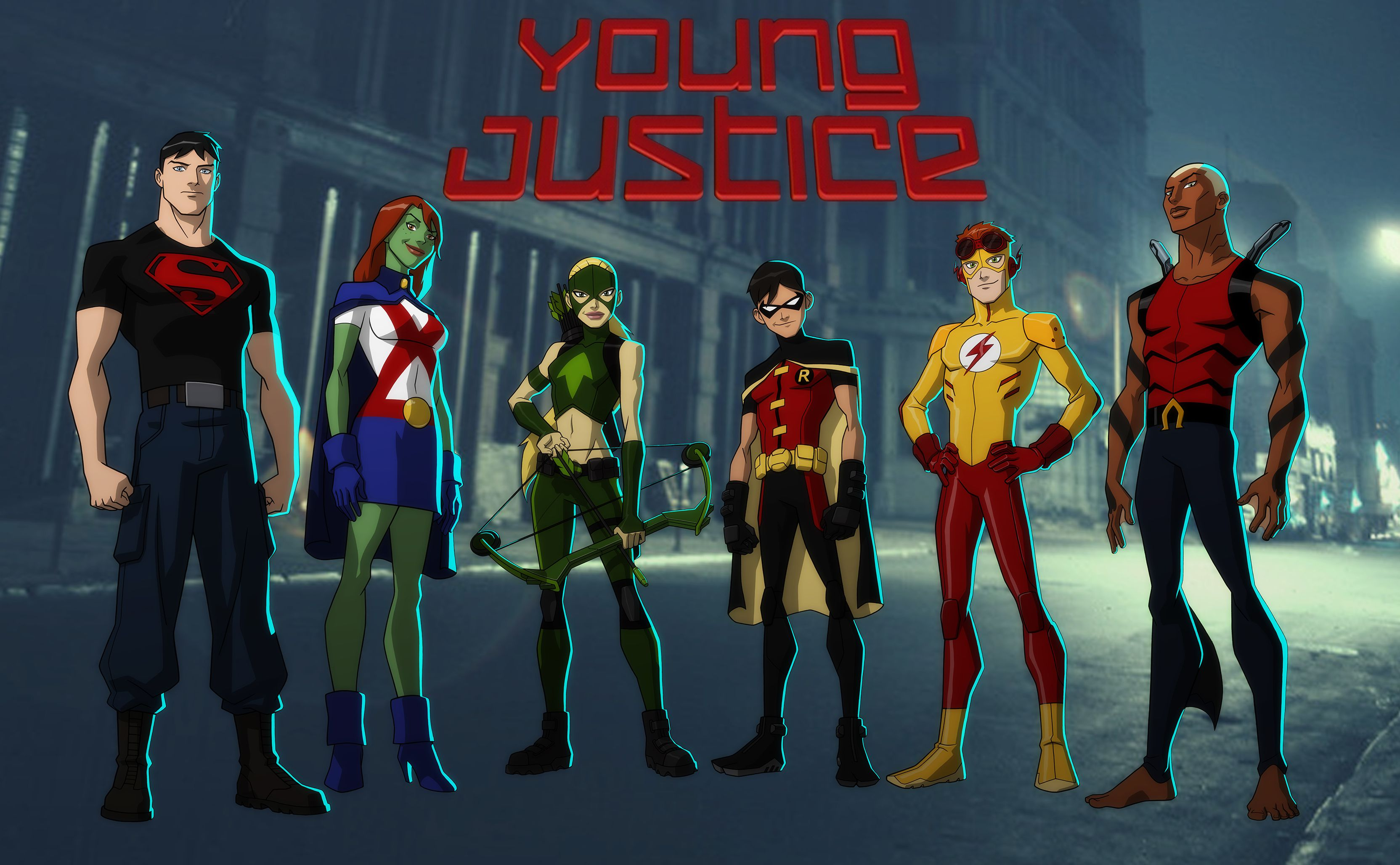 Young Justice Wallpaper 3328x2056