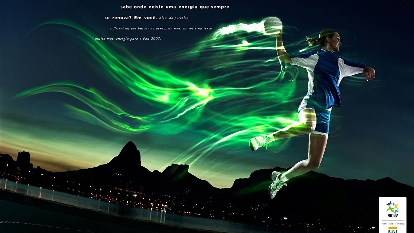 Pan American Games Rio Creative Graphic Design Wallpaper 1366x768 1366x768
