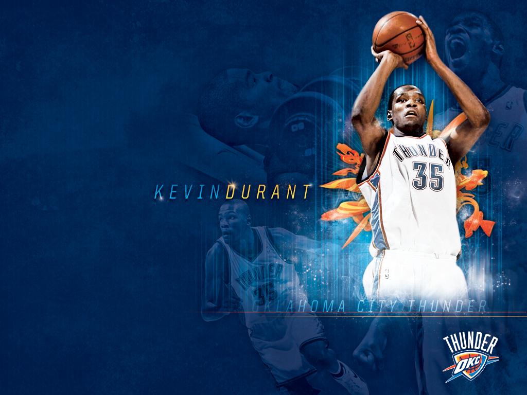Basketball Wallpaper Kevin Durant Thunder Shooting Wallpaper 1024x768