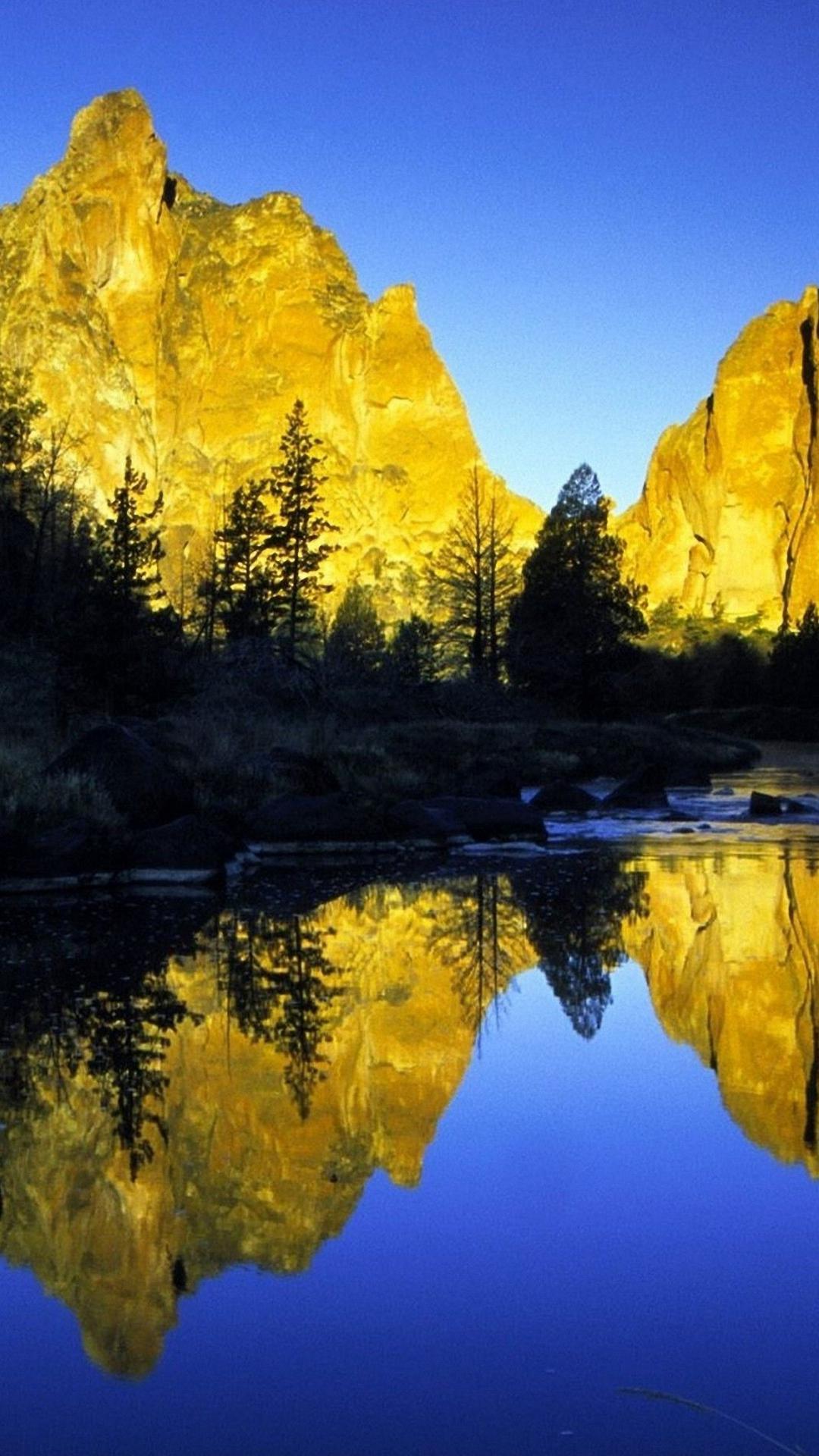 1080x1920 Mountains River Reflectian iphone 6s plus Wallpaper HD 1080x1920