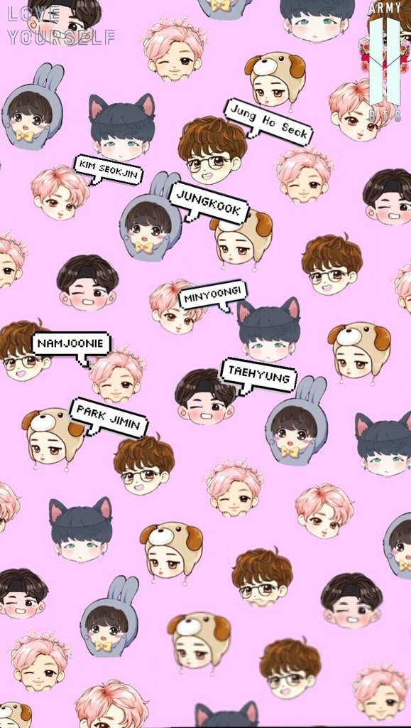 Bts chibi wallpapers if u want an individual member lmk ARMYs Amino 579x1024