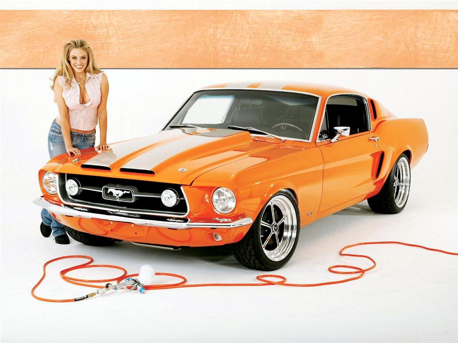 Download High quality mustang Girls Cars Wallpaper Num 139 1600x1200