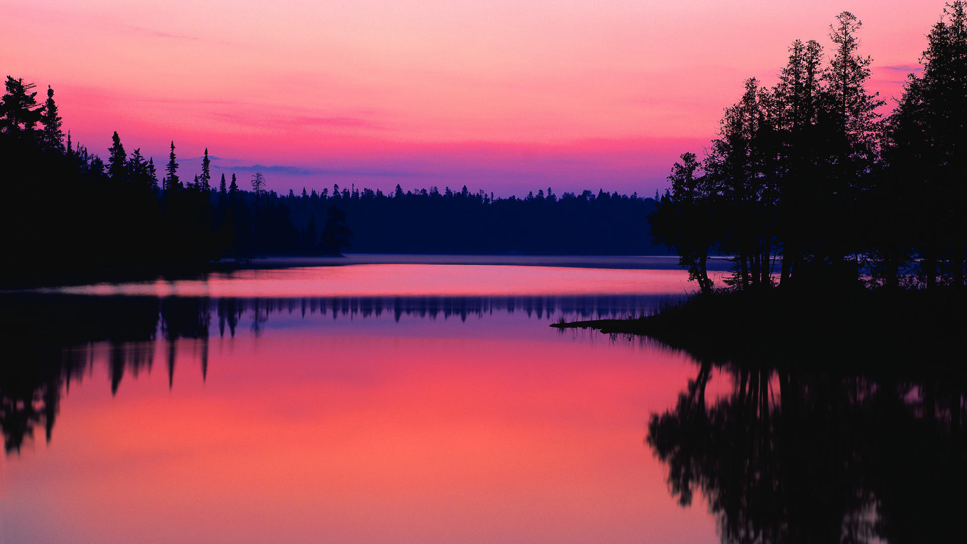 Pink Dark Water Reflection Nature HD Wallpaper 2844 HD Wallpaper 1920x1080