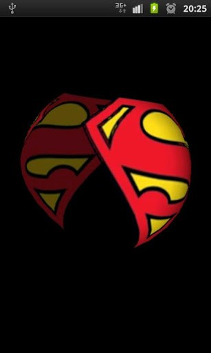 The SupermanLogo 3D live wallpaper 307x512