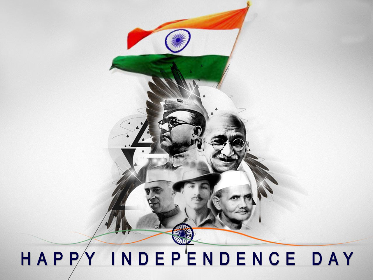 Happy Independence Day Freedom Fighters Wallpaper   Indian 1280x960