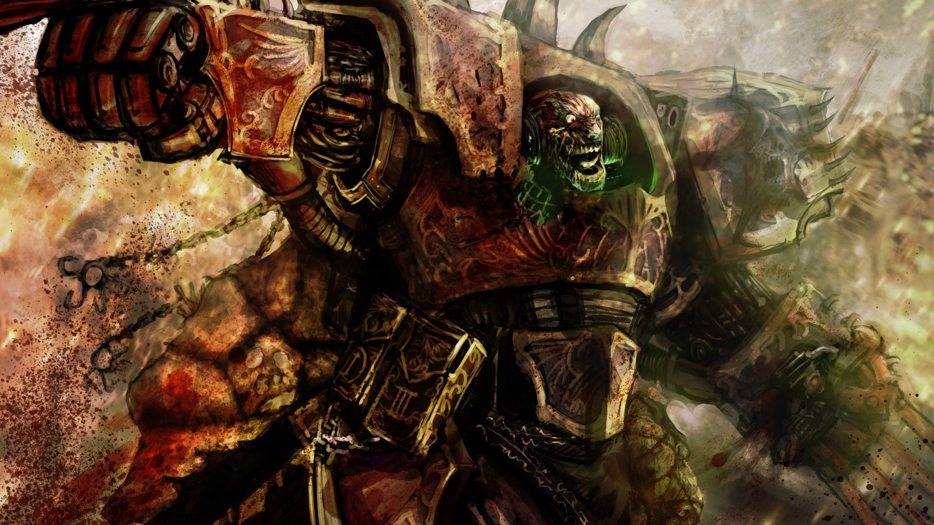 Artwork chaos space marine Warhammer 40k wallpaper 1920x1080 1920x1080