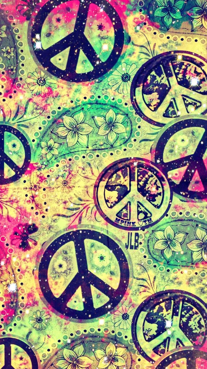 Floral Peace Sign Galaxy Wallpaper androidwallpaper 719x1280