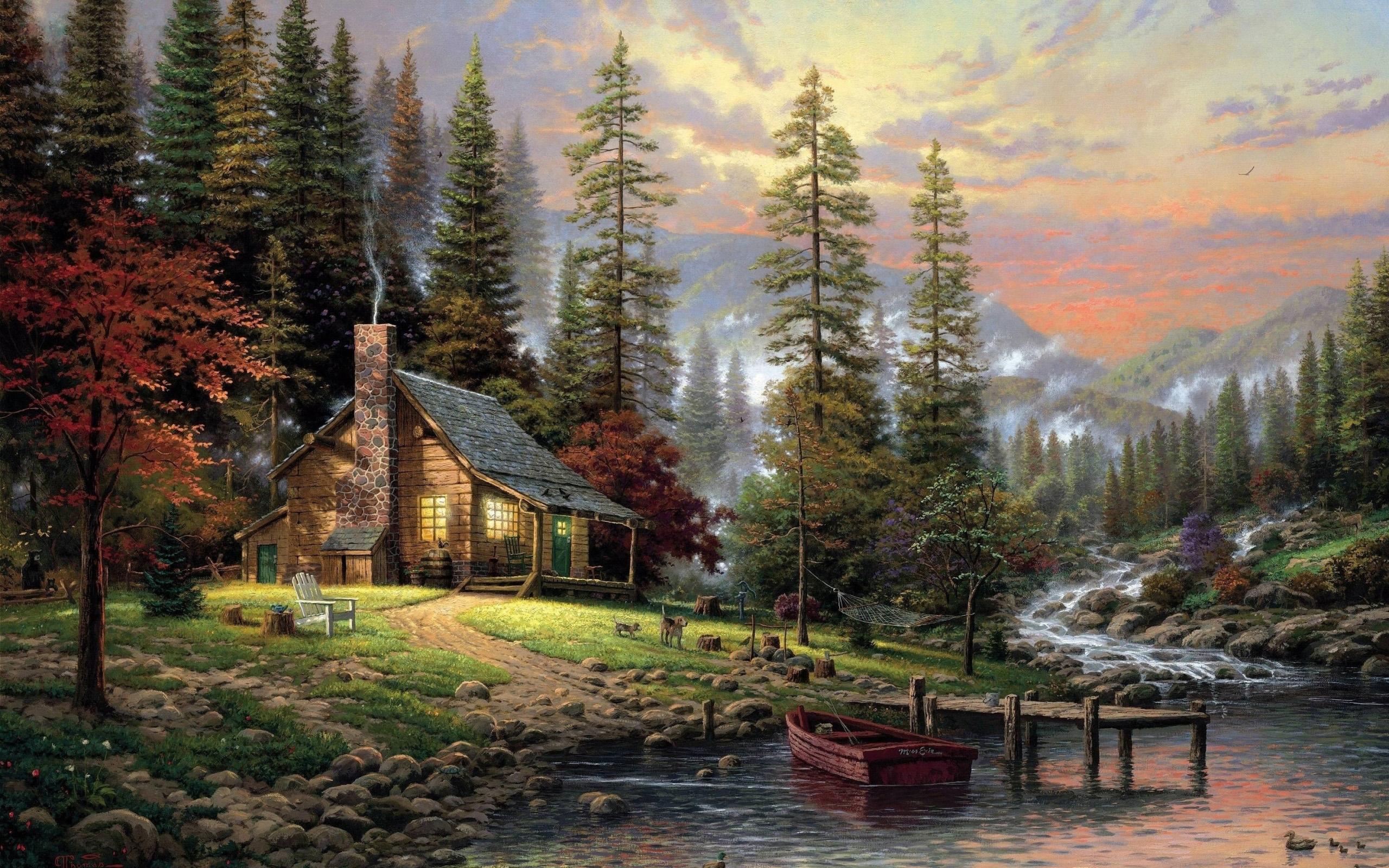Nature Paintings Wallpaper 6978850 2560x1600