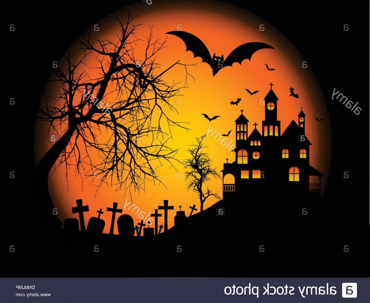 Spooky Halloween Background With Haunted House On A Hill Image 1560x1279