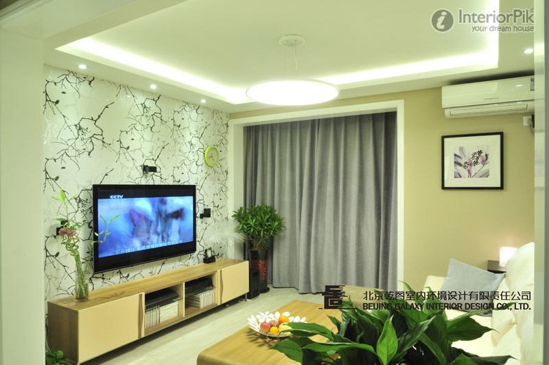 Home Design Of Living Room Wallpaper TV Wall Ideas   Home Design Ideas 800x531