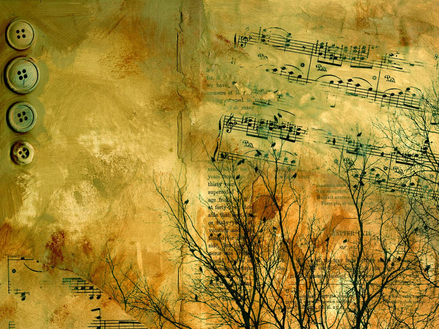 Music Wallpaper Music Notes Wallpapers 1400x1050