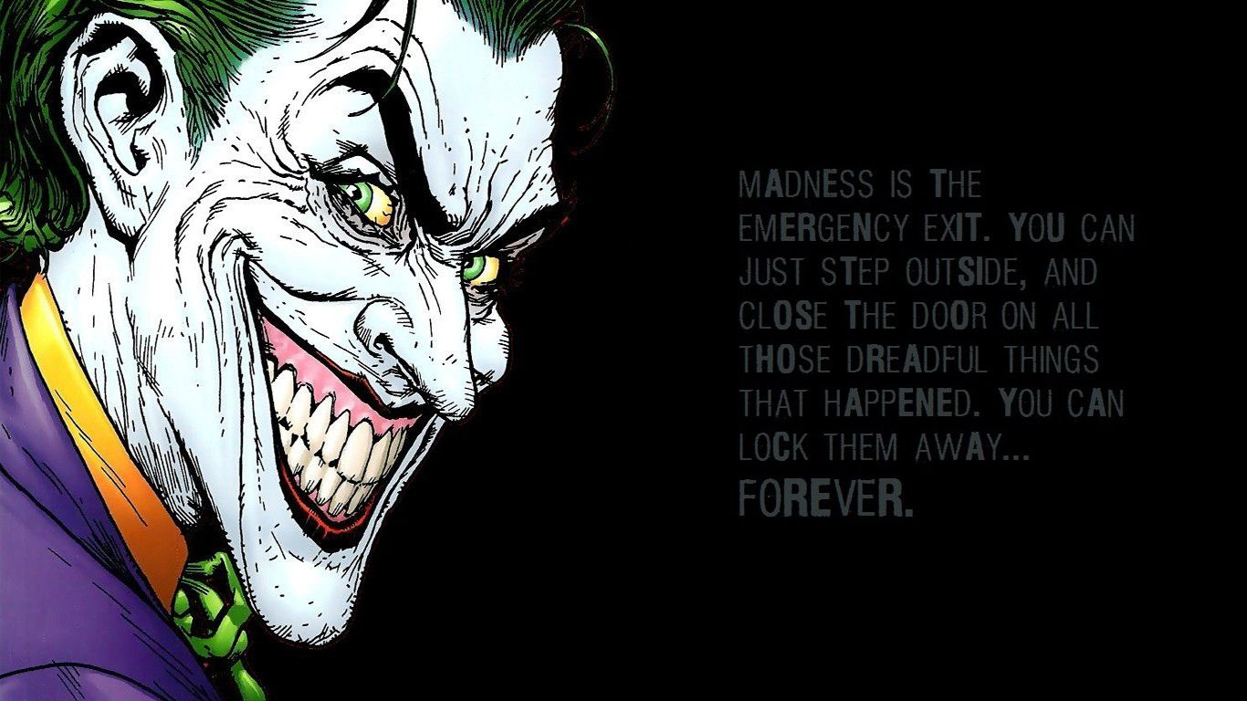 Joker Comic Wallpapers WallpapersIn4knet 1366x768