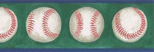 Baseball Wallpaper Border Man Cave Game Room Den Sports Room Sale 500x169
