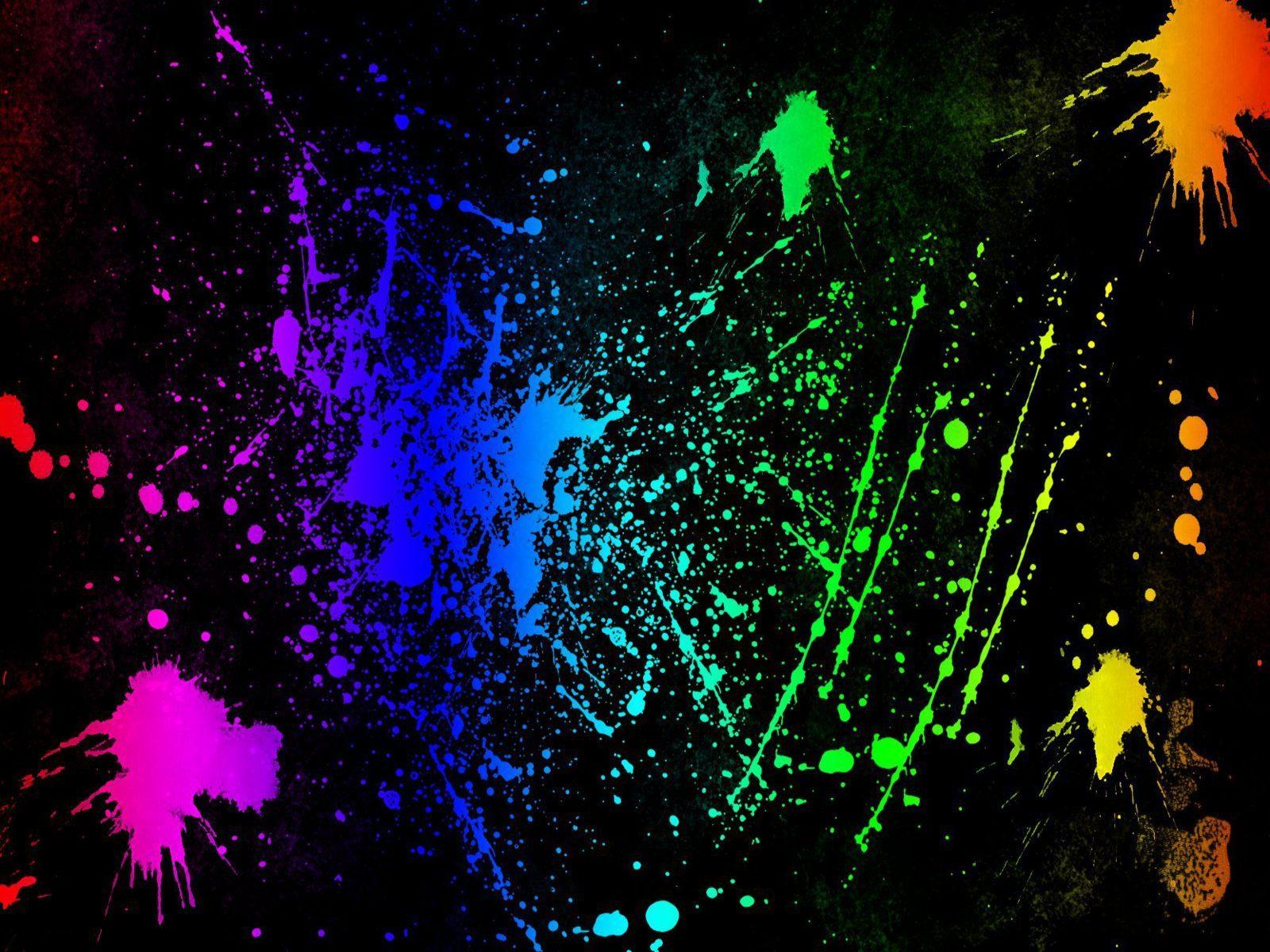 Neon Colors Rock images Splatter HD wallpaper and 1600x1200