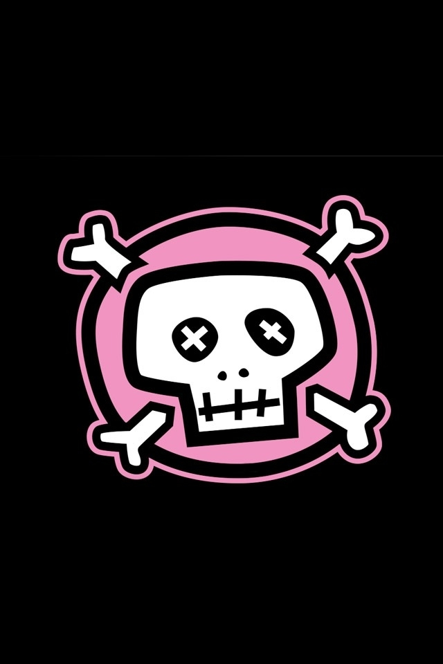 Pink Skull IPhone HD Wallpaper Download 640x960