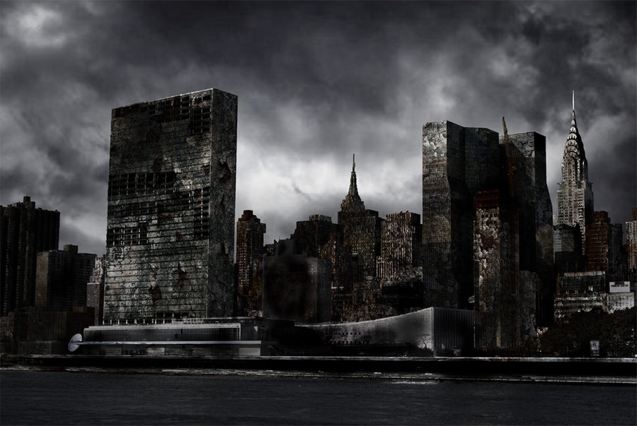 Destroyed City by Nation17 Destroyed City Background 900x603