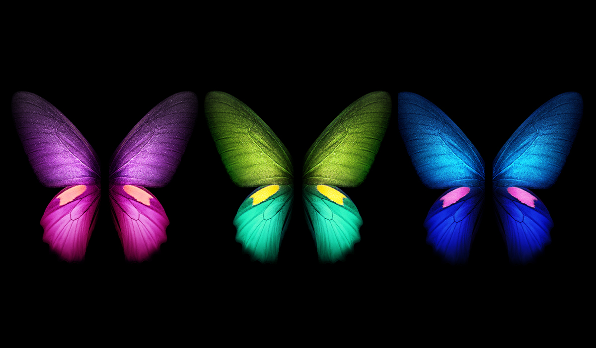 Samsung Galaxy Fold live and static wallpapers available for download 1200x700