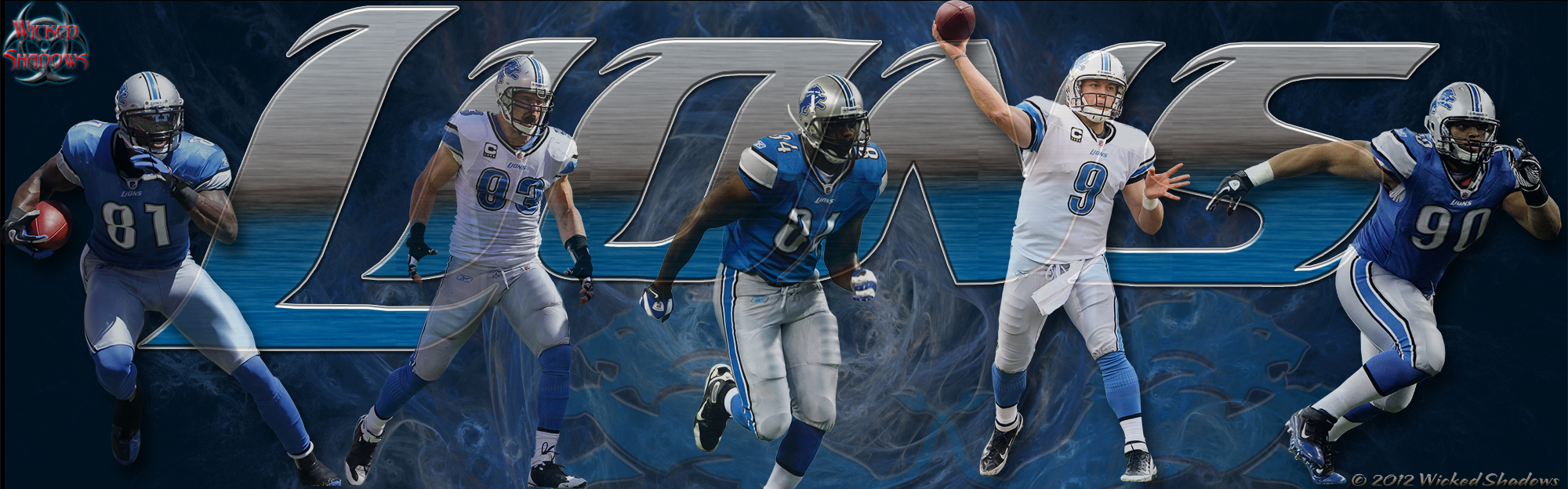 Wallpapers By Wicked Shadows Detroit Lions NFL wallpapers 2000x624