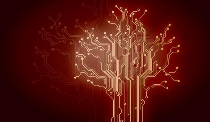 red techno wallpaper