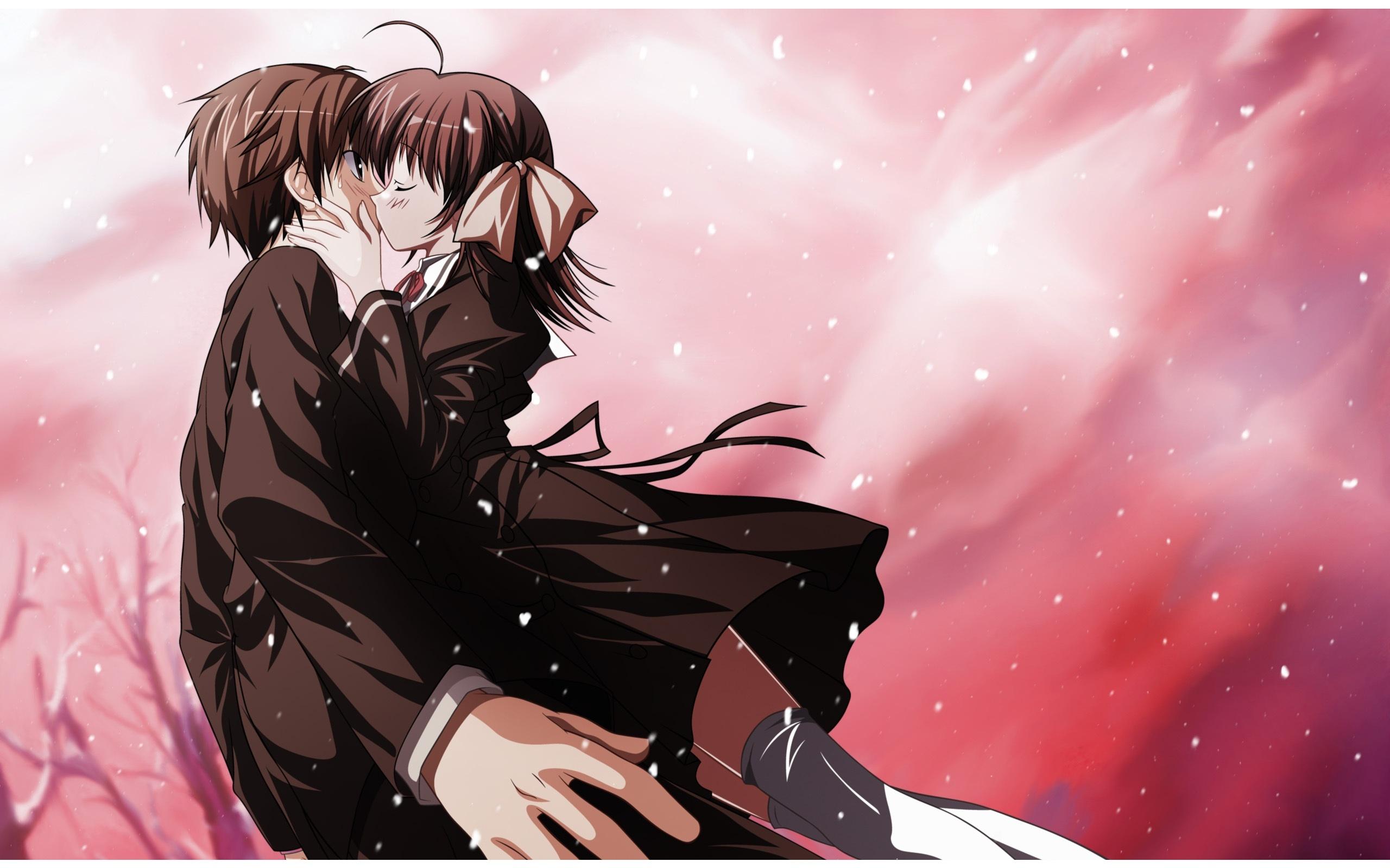 Anime Kissing Wallpaper Wallpapersafari