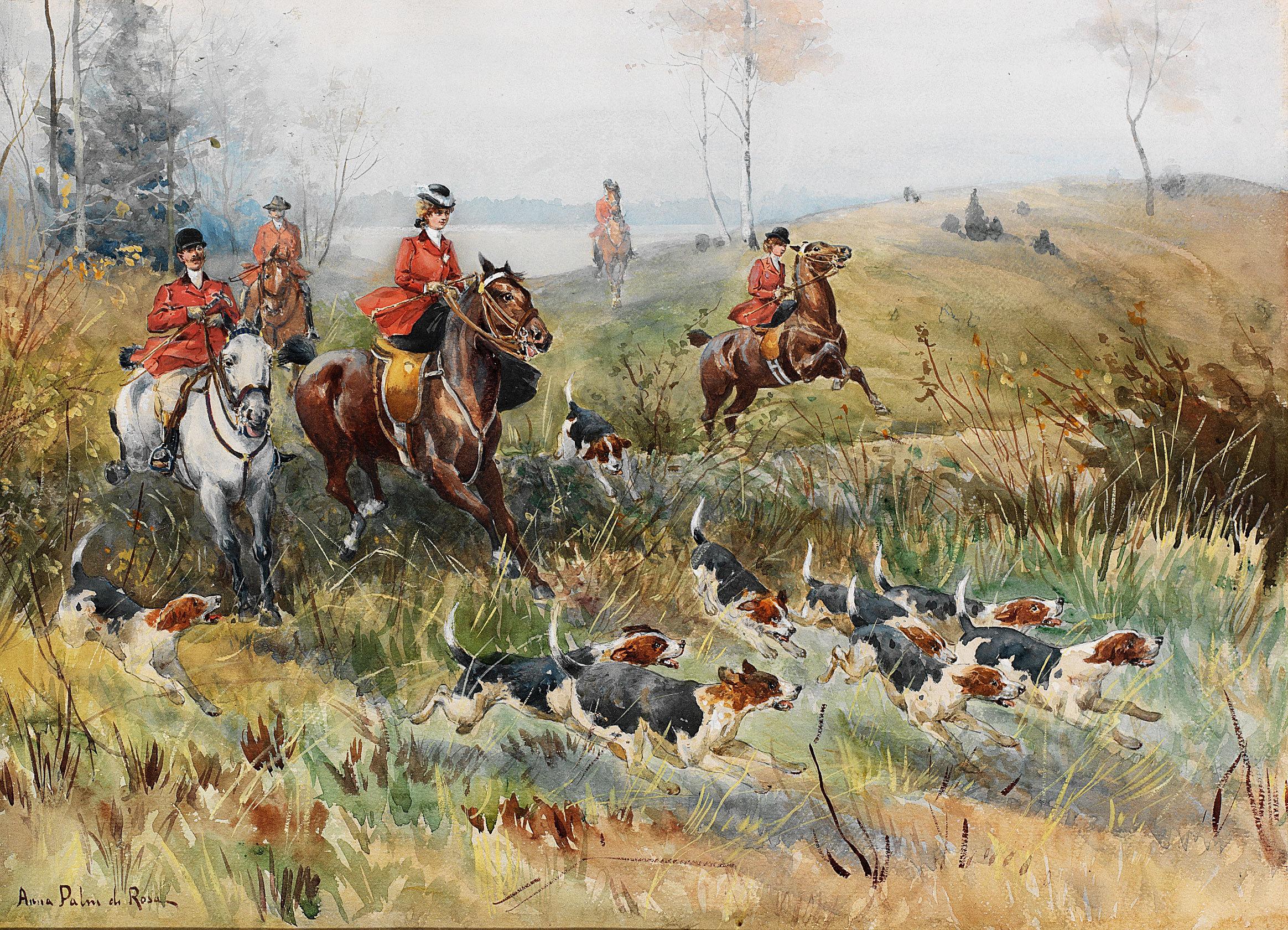 anna palm de rosa rvjakt fox hunting hunting hunters horses dogs 2328x1680