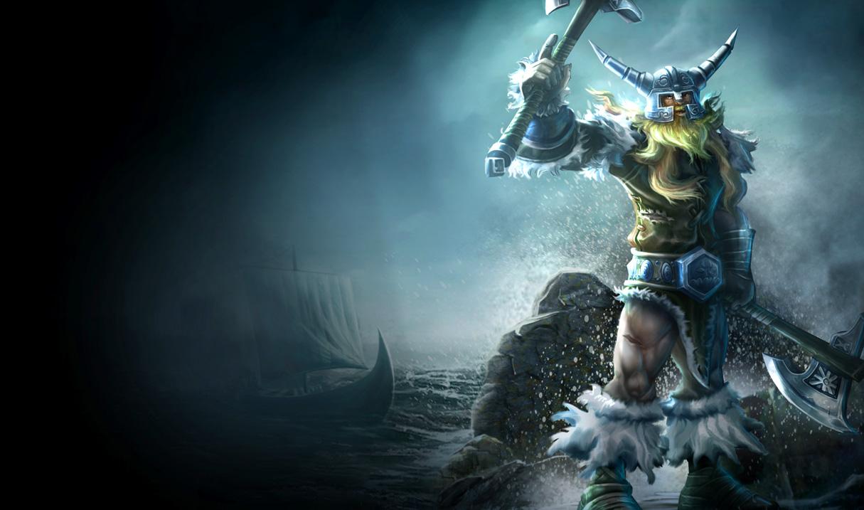 League of Legends Wallpaper Olaf   The Berserker 1215x717
