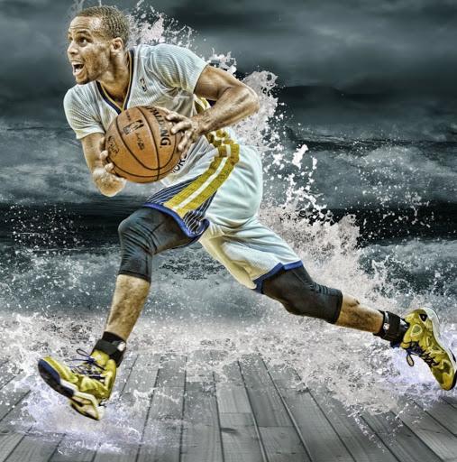 Stephen Curry Splash Wallpaper 2400X1350 507x512