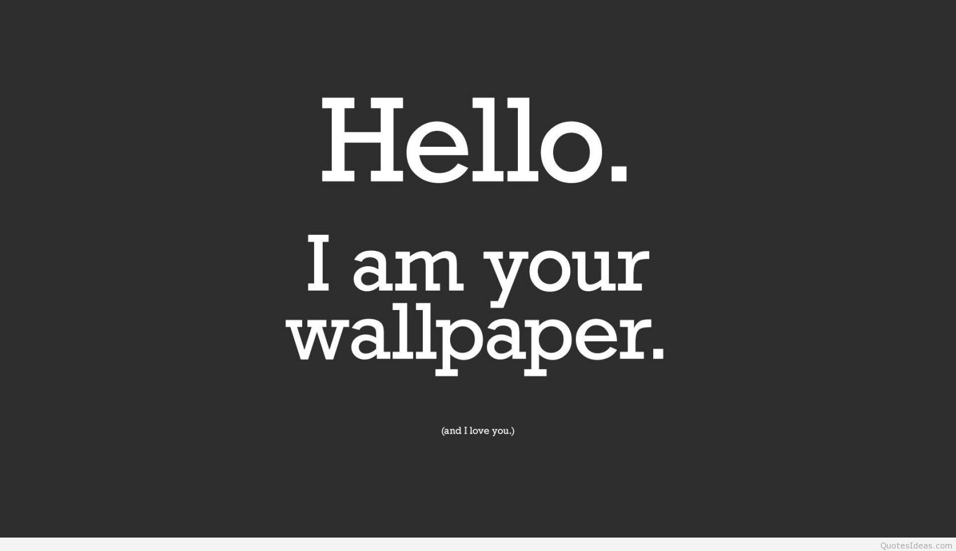 Funny Hello wallpaper for desktop background 1920x1107