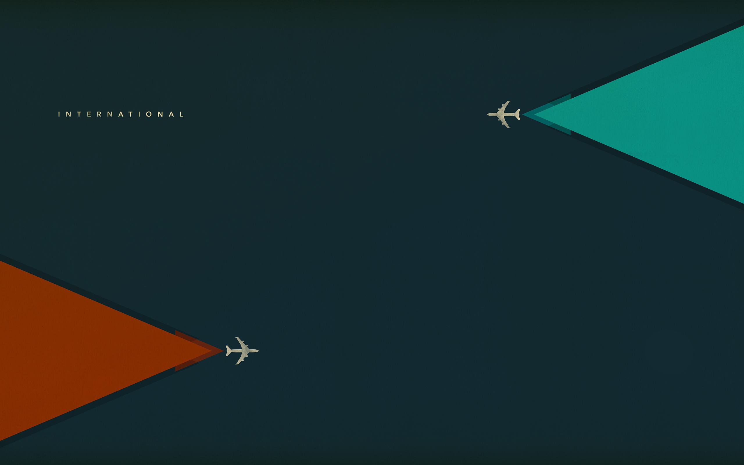 Minimalism airplanes creative airplanes minimalistic wallpaper 2560x1600