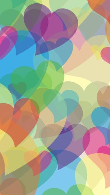 Heart Abstract Hearts Rainbow Colors Lines Hd Widescreen Wallpaper