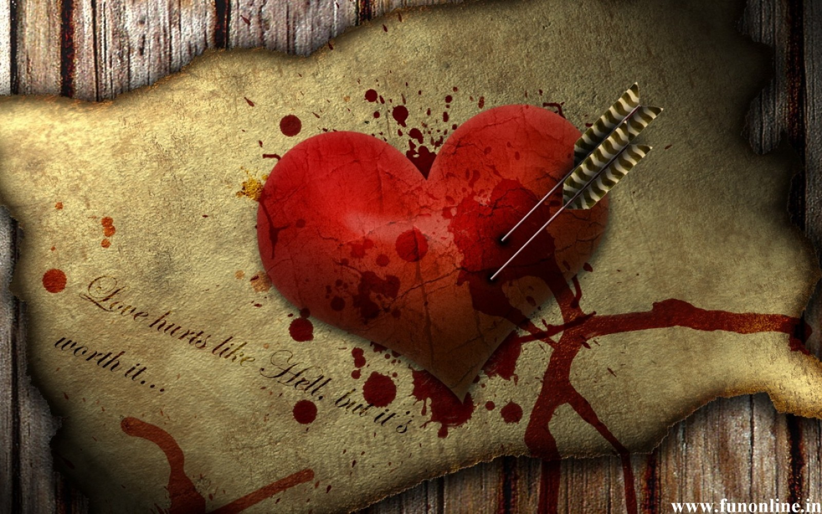 Love Hurts Wallpaper Wallpapersafari