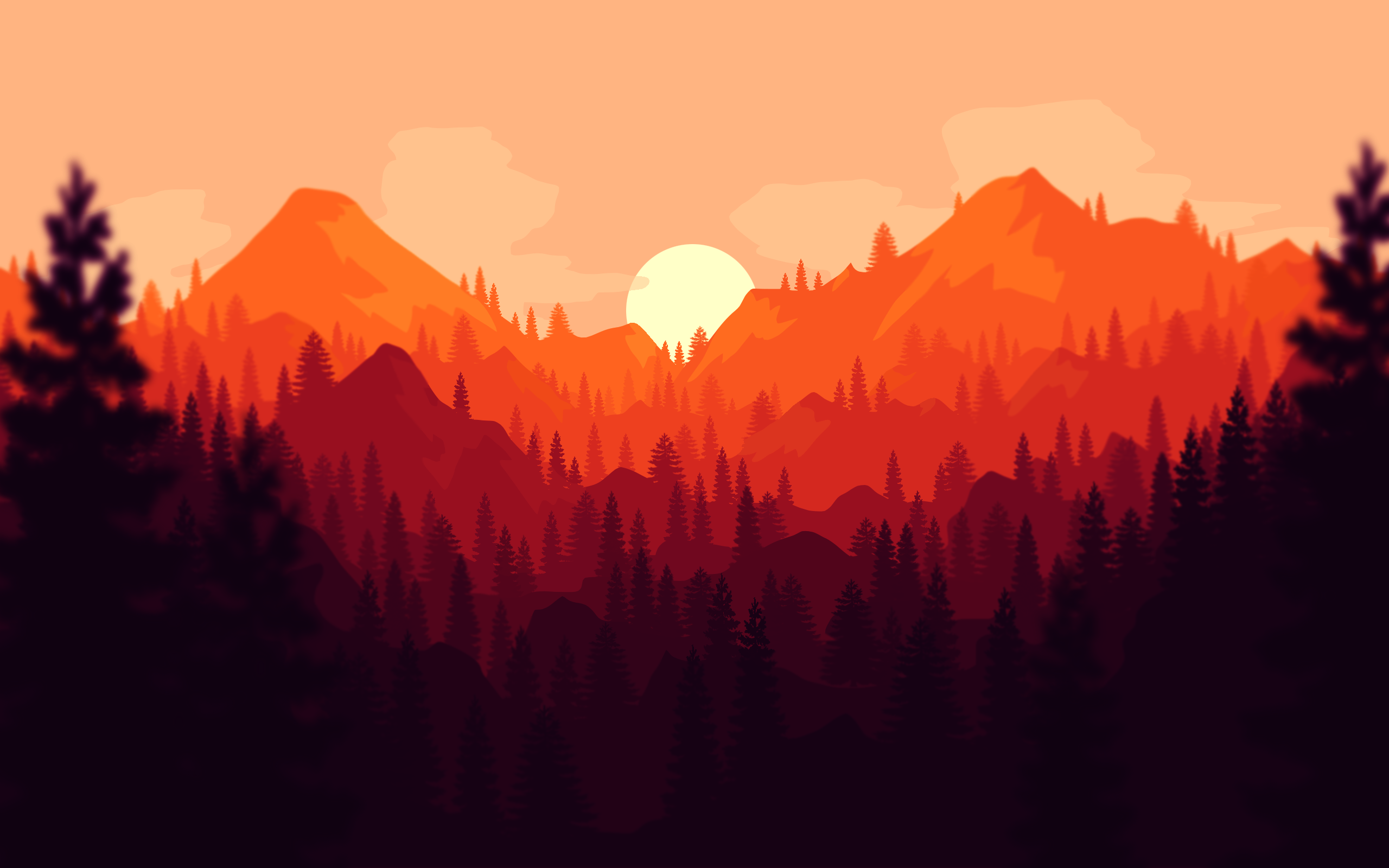 Clean Firewatch Styled Wallpaper wallpapers 2560x1600