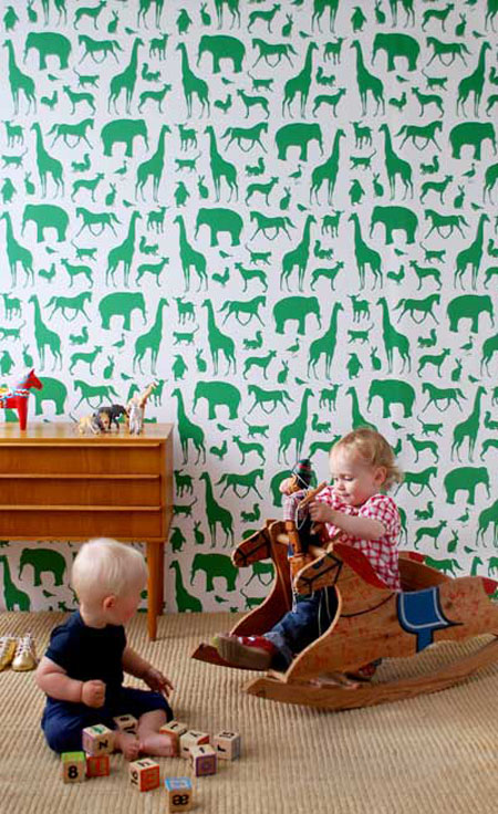 Your Kids Room With The Animal Farm Wallpaper From Ferm Living 450x736