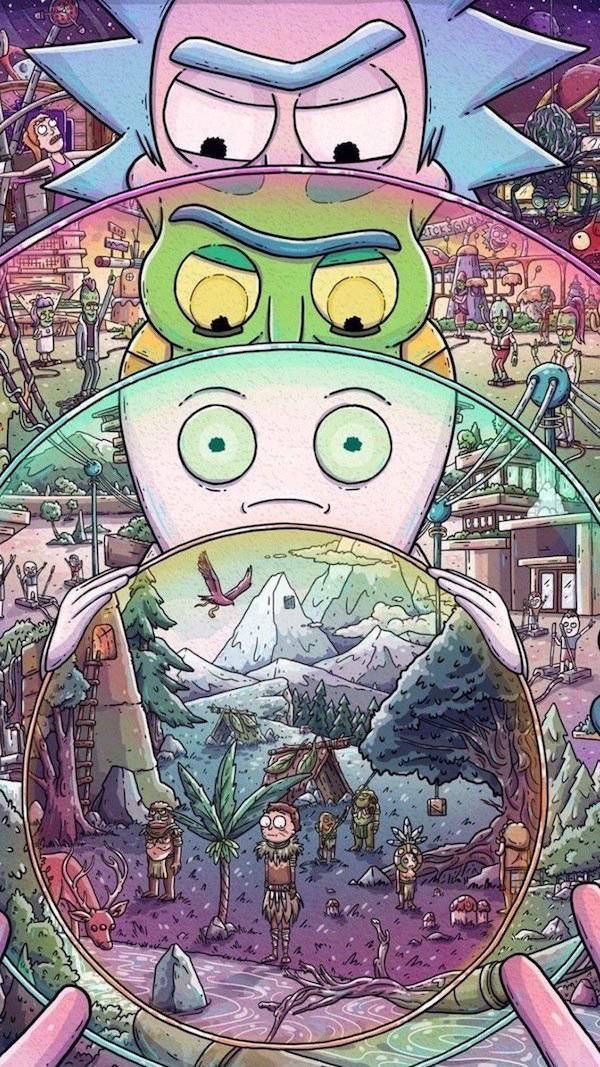 Wallpaper Iphone Rick And Morty Best 50 Background 600x1067