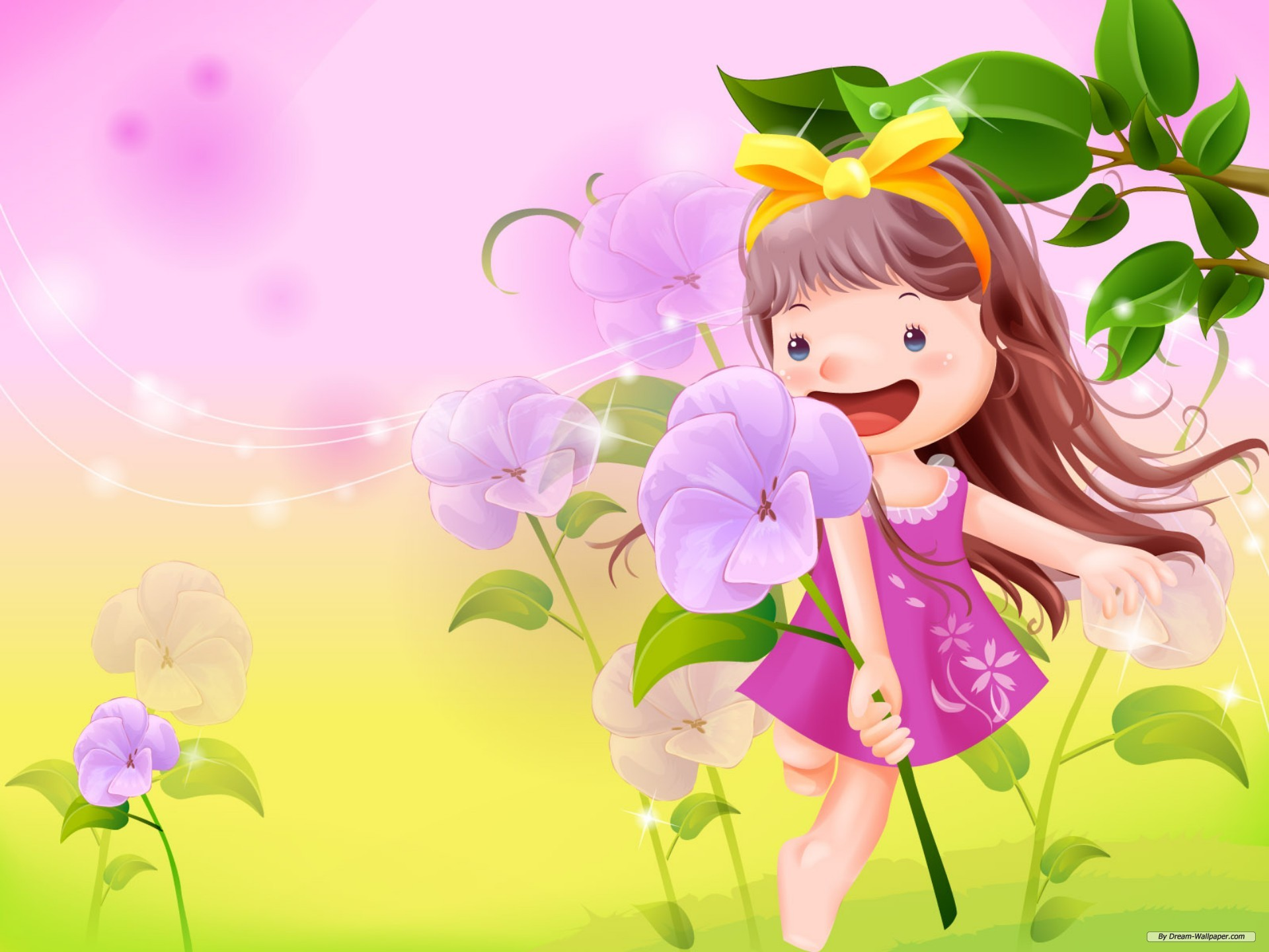 Wallpaper   Cartoon wallpaper   Vector childhood 1 wallpaper 1920x1440