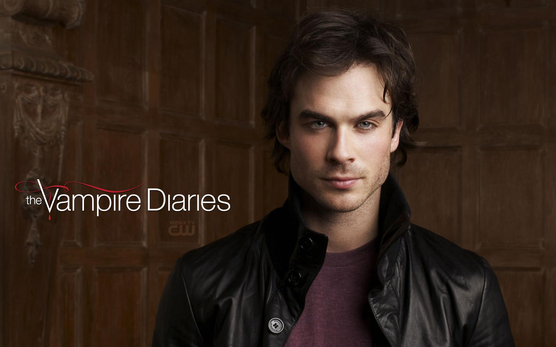 The Vampire Diaries S1 Damon   WBNX TV Clevelands CW 1920x1200