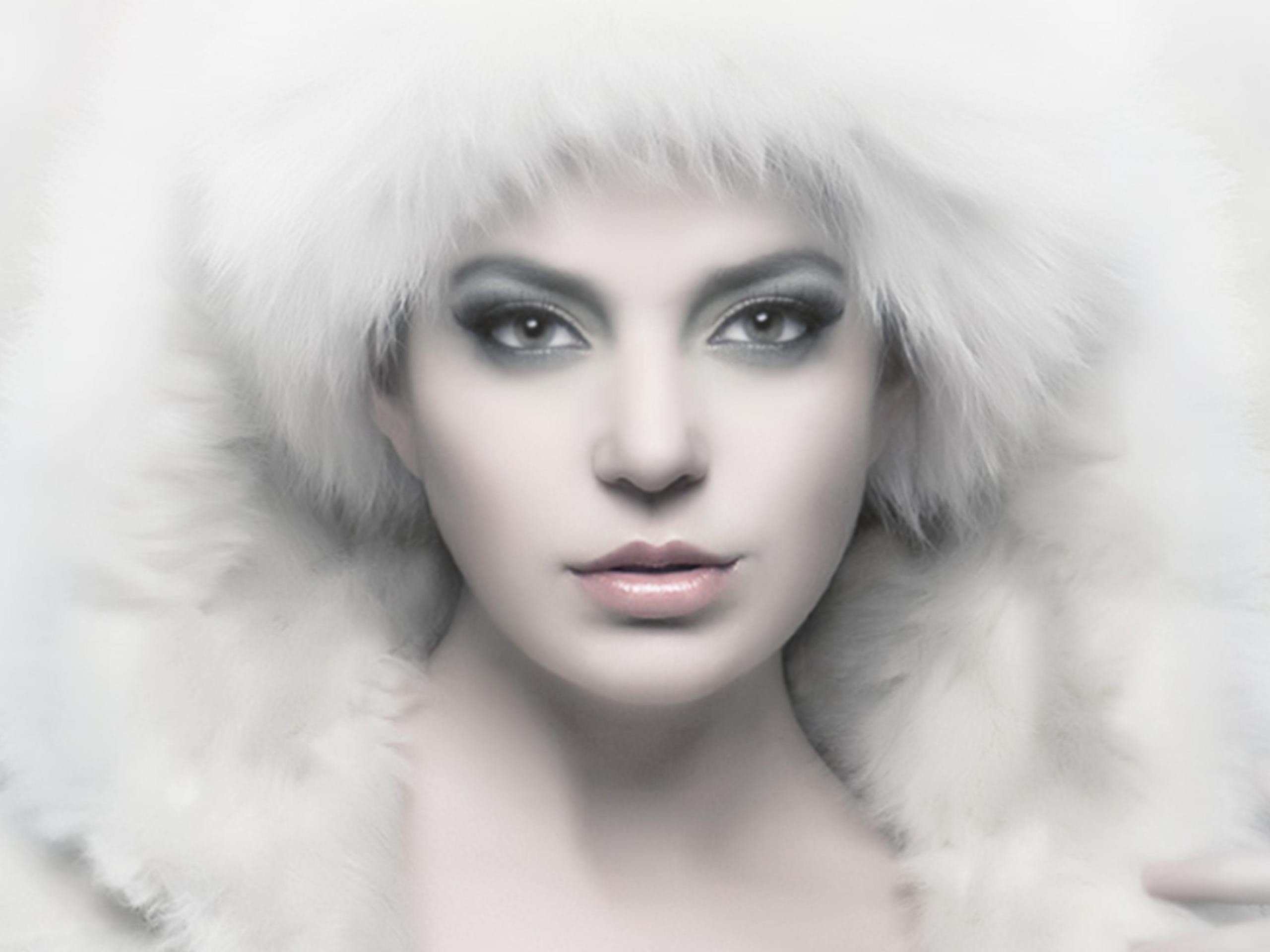 faces white background fur hats fur clothing wallpaper background 2560x1920
