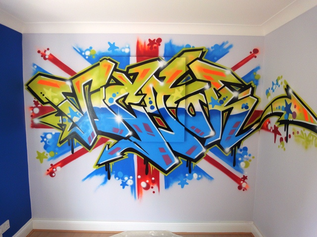 Pin Graffiti Wallpaper For Bedrooms Uk Image Search Results on 640x480
