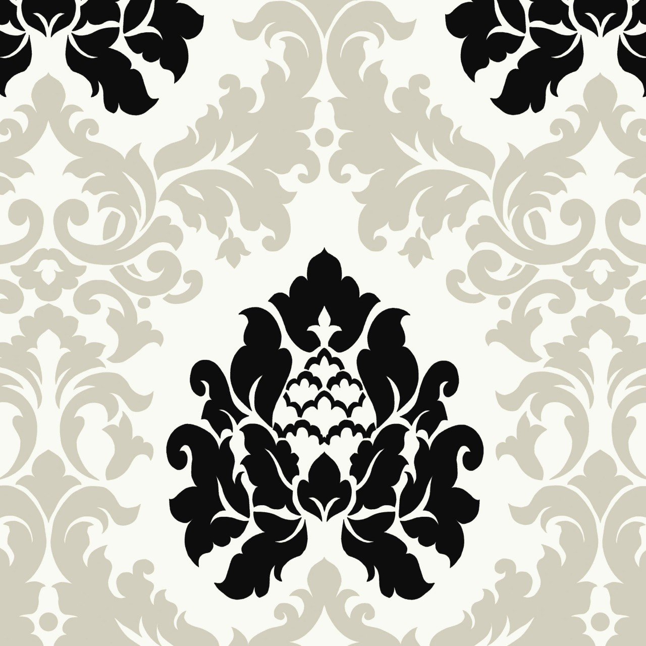White black hav40729 haven damask wallpaper is prepasted and has 24 1280x1280