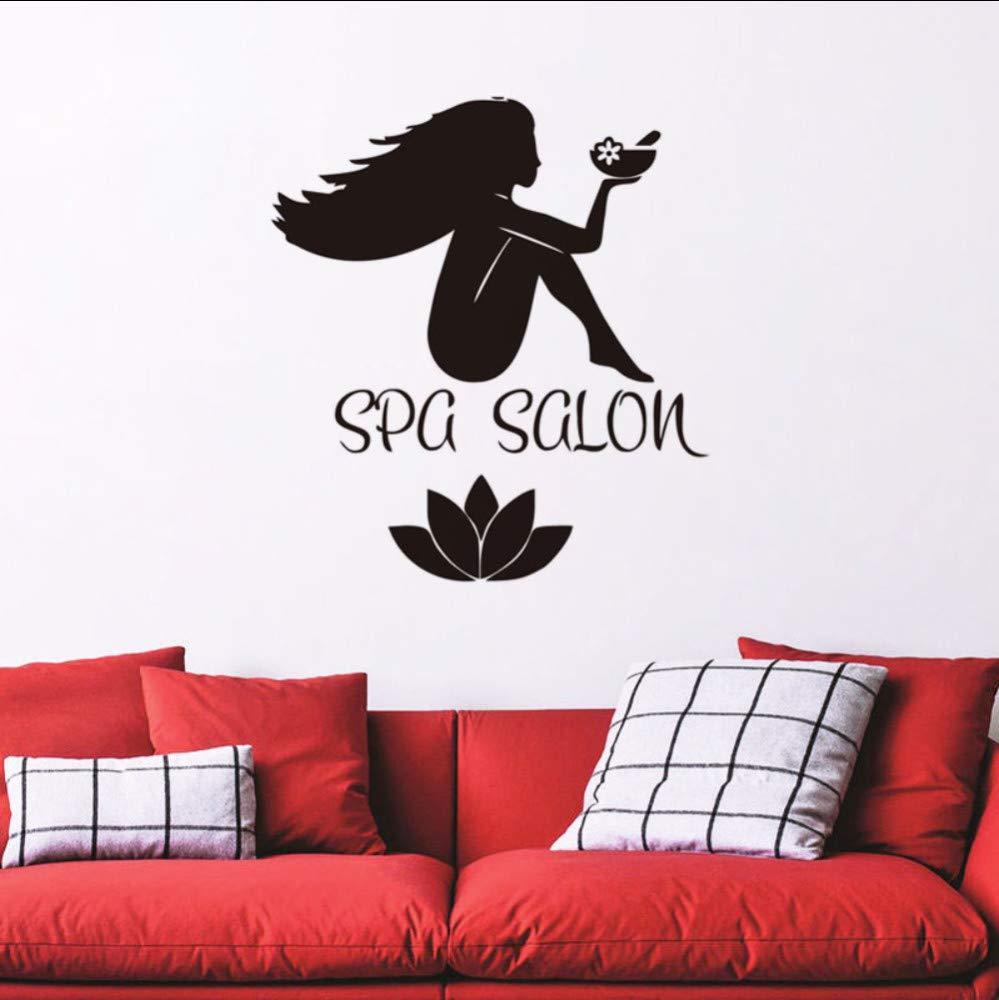 Amazoncom ponana Spa Salon Wallpaper Sticker PVC Removable Lotus 999x1000