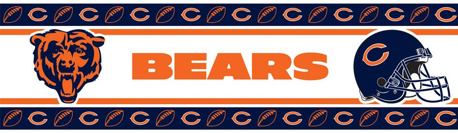 Chicago Bears NFL Wall Border   Interior Mall 945x276