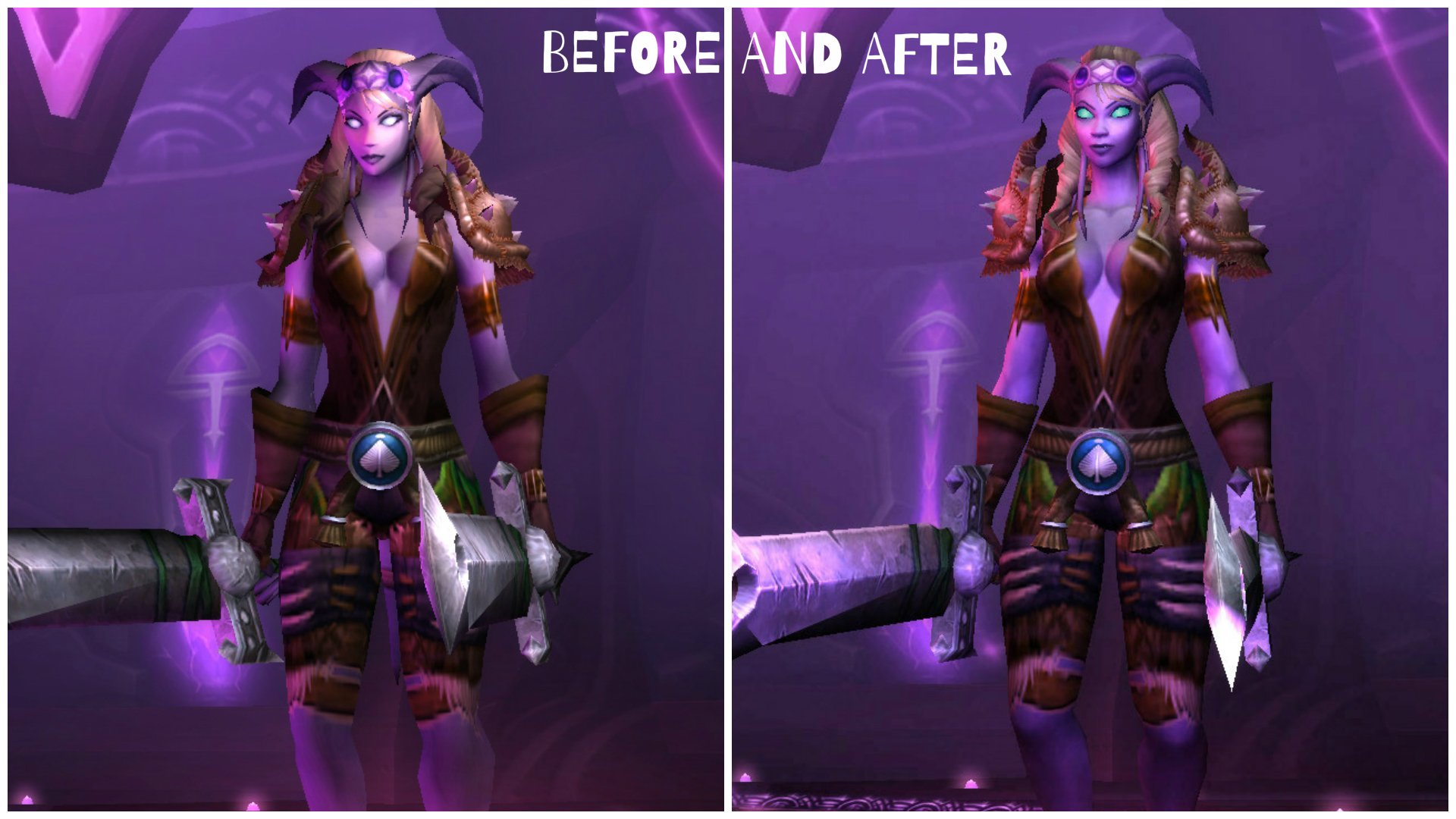 Warcraft draenei and human adult photos