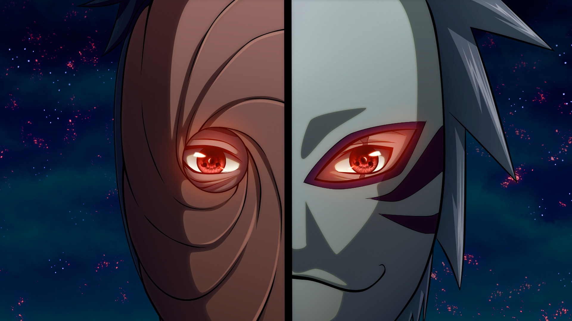 Obito Uchiha Wallpaper Iphone Kakashi hatake and obito tobi 1920x1080