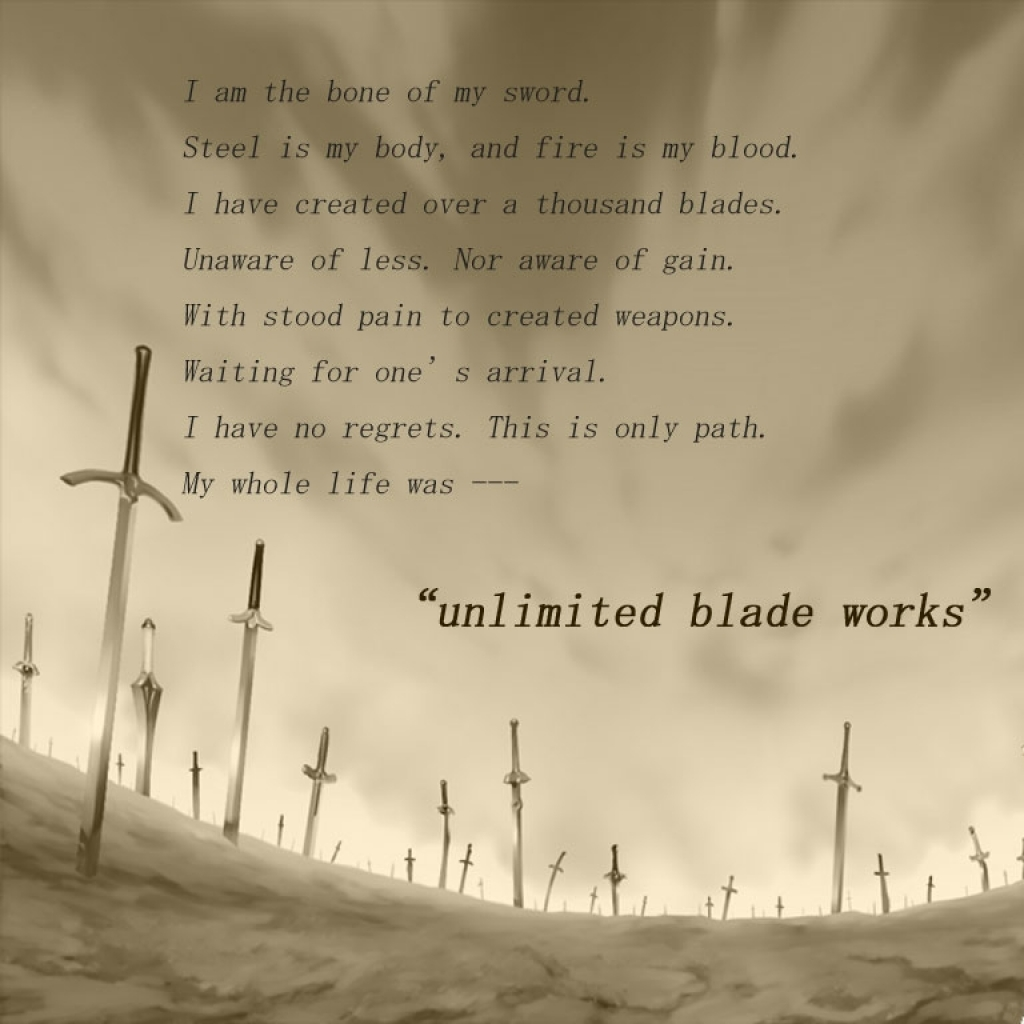 fatestay night quotes unlimited blade works blade emiya shirou swords 1024x1024