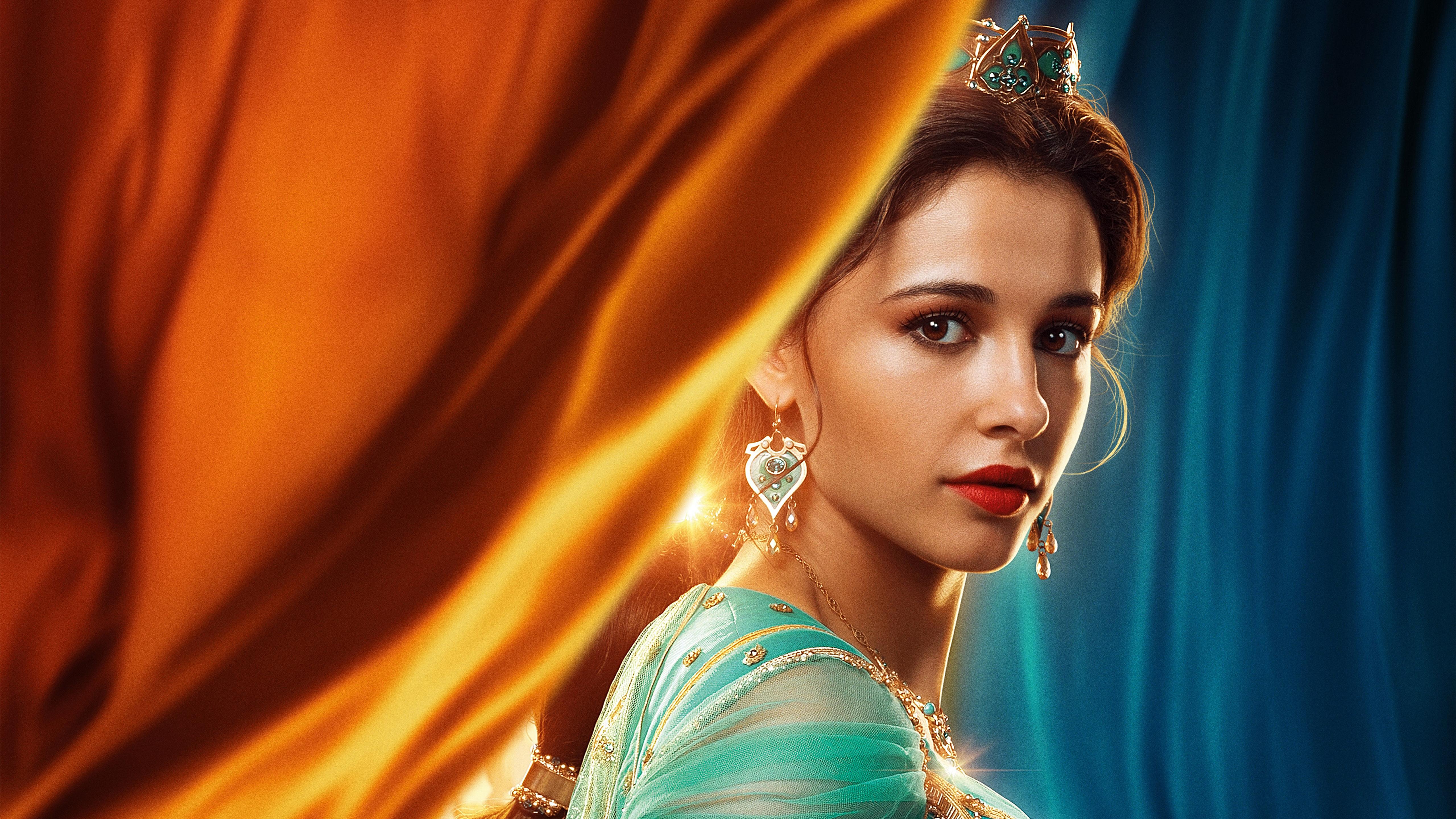 Naomi Scott as Princess Jasmine in Aladdin 2019 5K Wallpapers 5120x2880