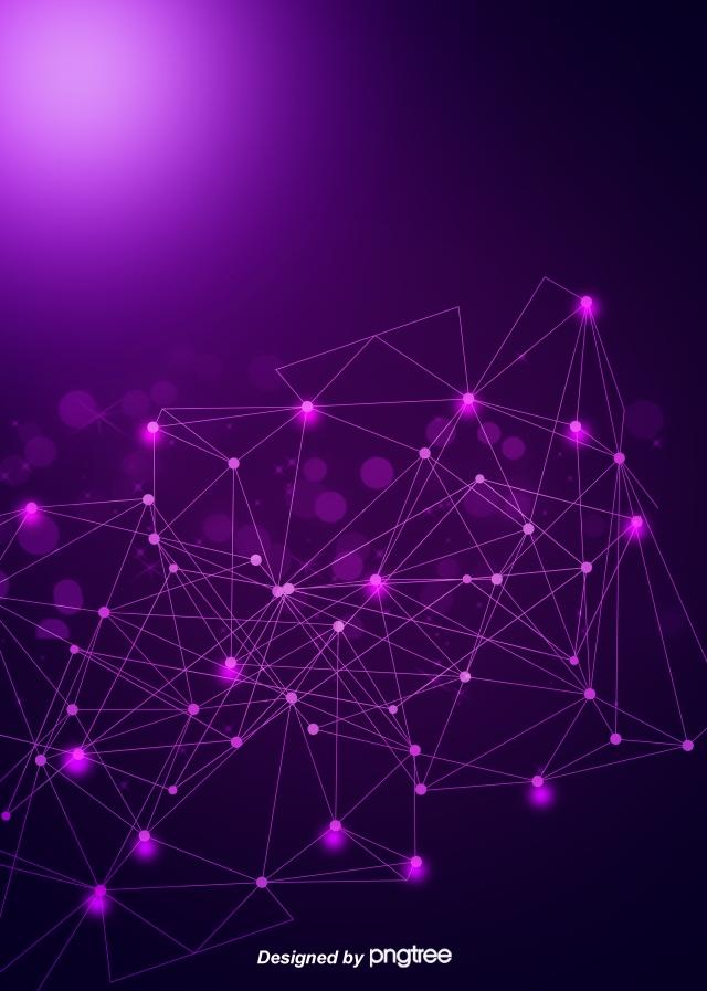 Purple Sci Tech Sensitive Geometric Line Flare Background Light 640x897