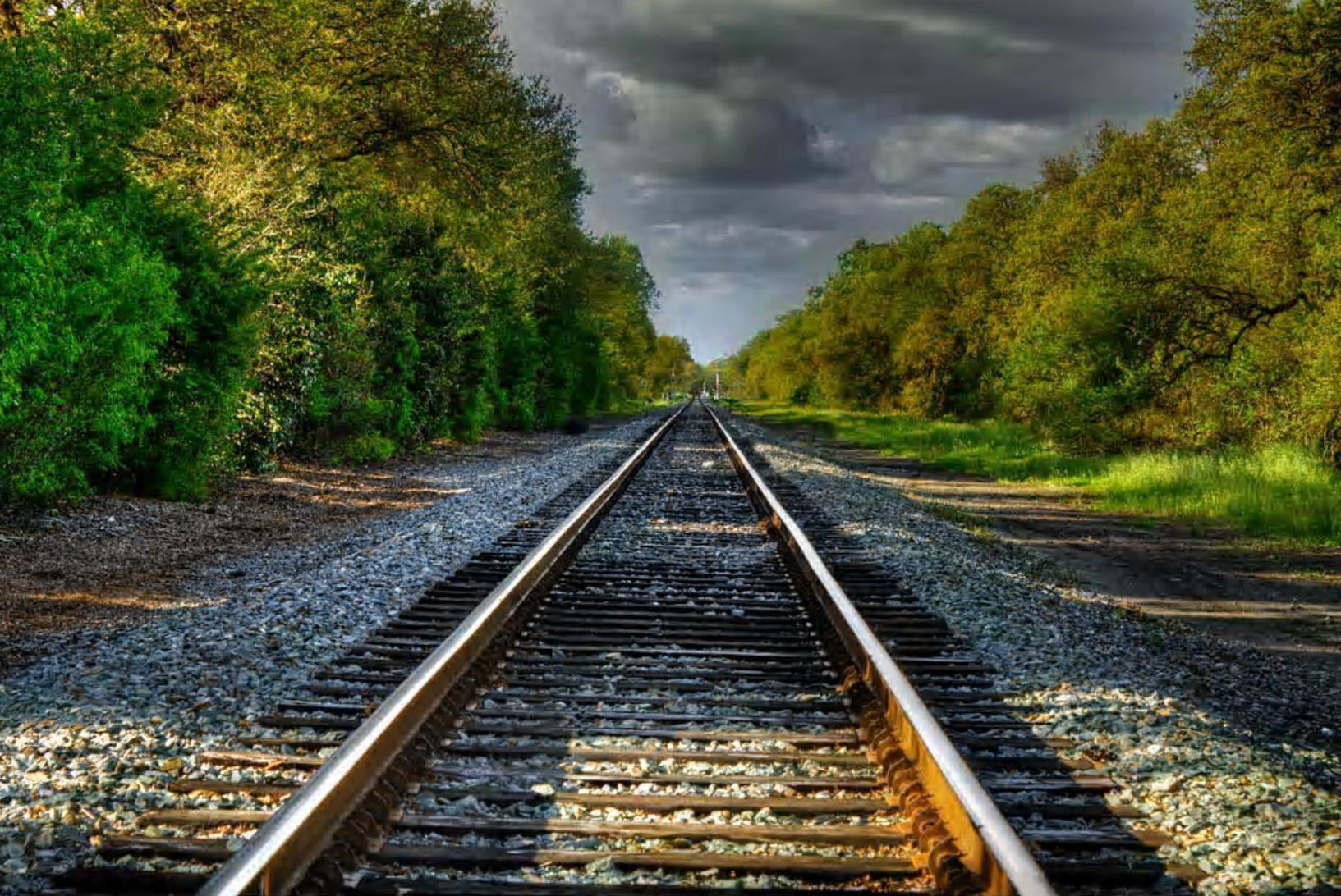 Train Track Wallpaper - WallpaperSafari