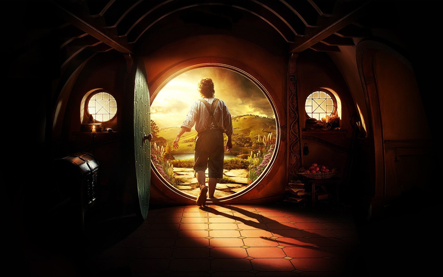 Bilbo baggins martin freeman the hobbit shire wallpaper AllWallpaper 1440x900